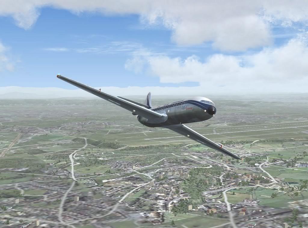 [FS9] - Sud Aviation Caravelle III de Lyon para o Porto Caravelle_AF05