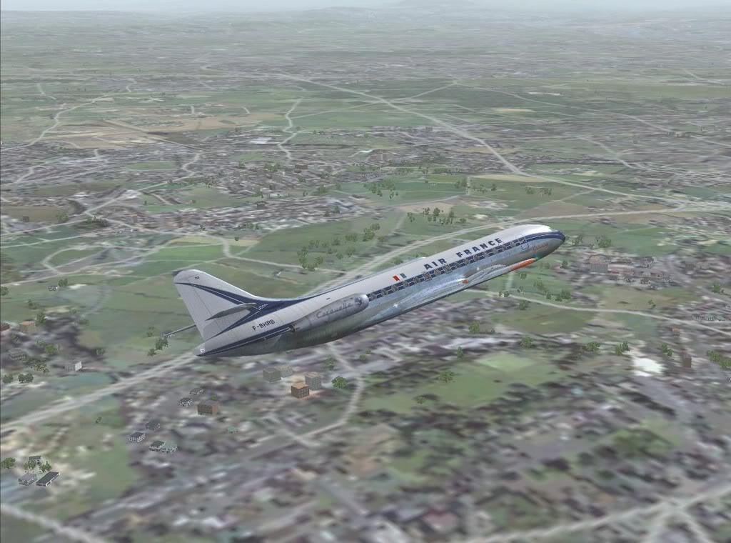 [FS9] - Sud Aviation Caravelle III de Lyon para o Porto Caravelle_AF06
