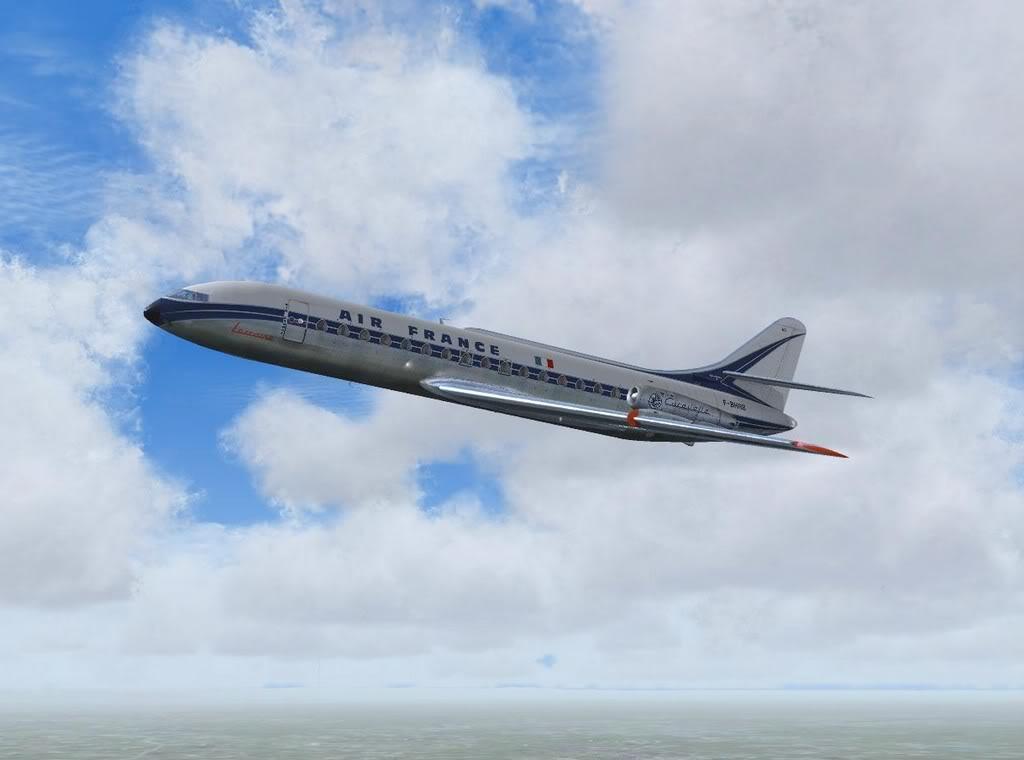 [FS9] - Sud Aviation Caravelle III de Lyon para o Porto Caravelle_AF07