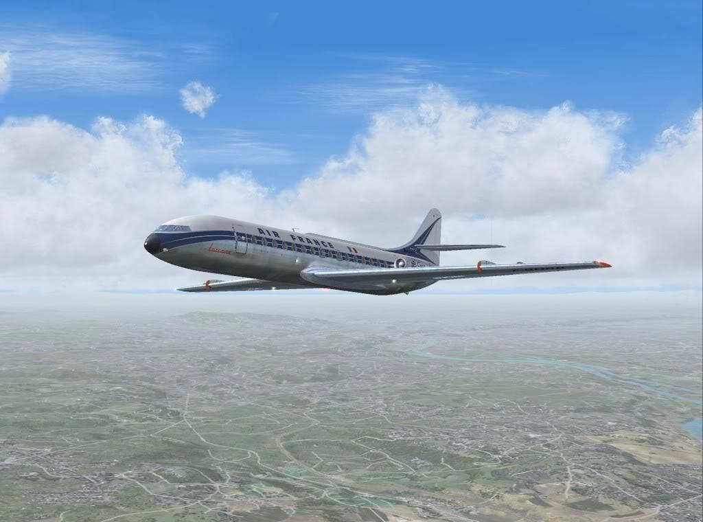 [FS9] - Sud Aviation Caravelle III de Lyon para o Porto Caravelle_AF08