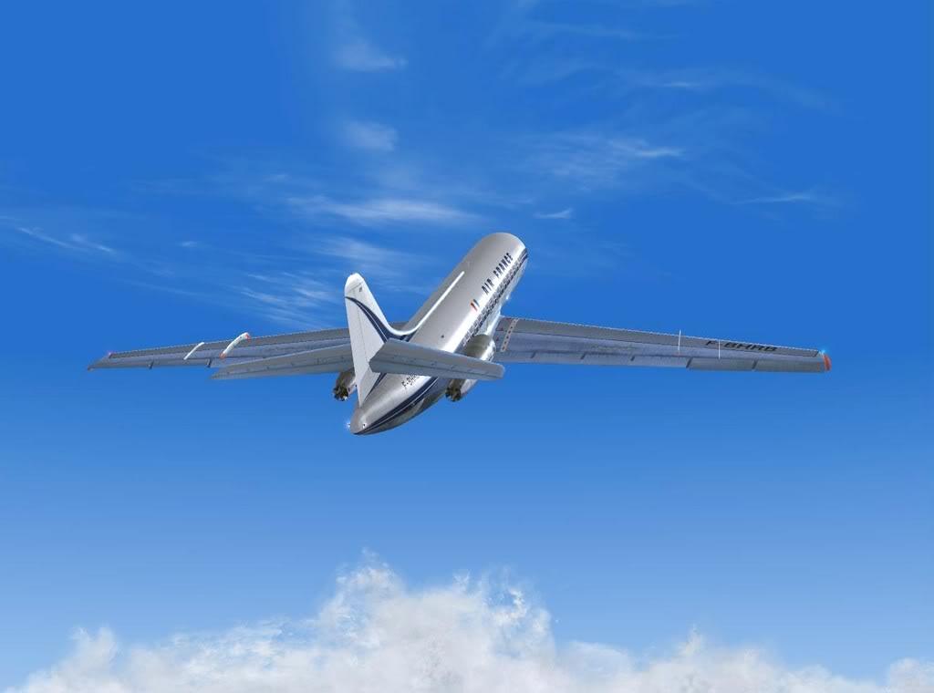 [FS9] - Sud Aviation Caravelle III de Lyon para o Porto Caravelle_AF10