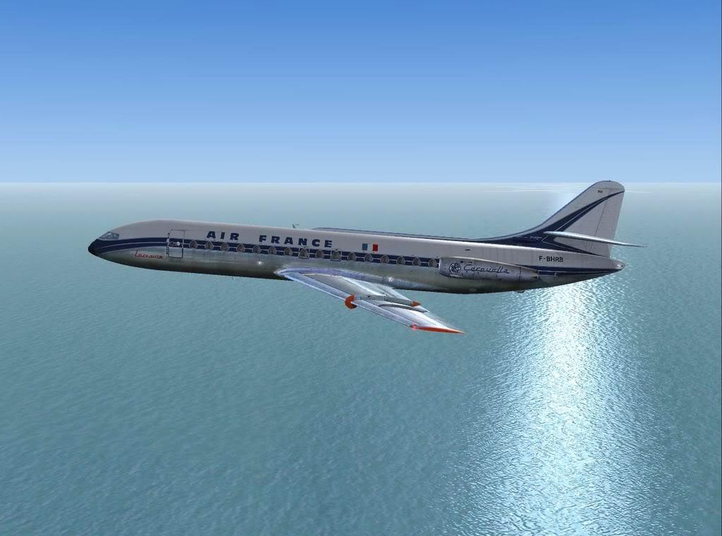 [FS9] - Sud Aviation Caravelle III de Lyon para o Porto Caravelle_AF11