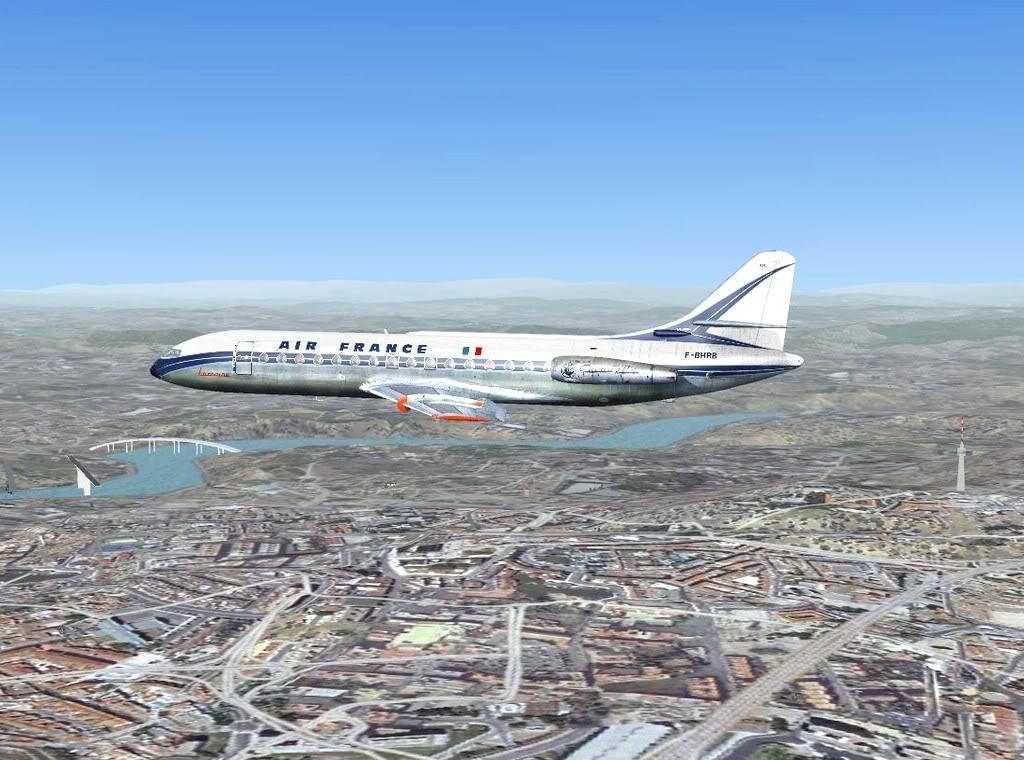 [FS9] - Sud Aviation Caravelle III de Lyon para o Porto Caravelle_AF12