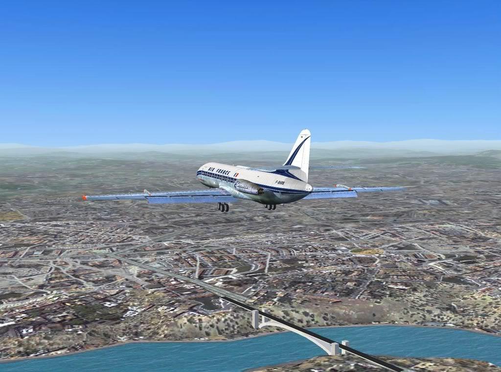 [FS9] - Sud Aviation Caravelle III de Lyon para o Porto Caravelle_AF13