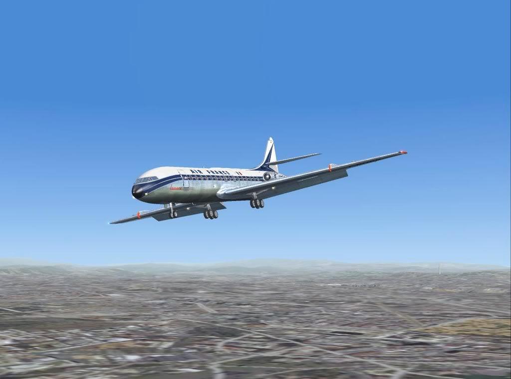 [FS9] - Sud Aviation Caravelle III de Lyon para o Porto Caravelle_AF14