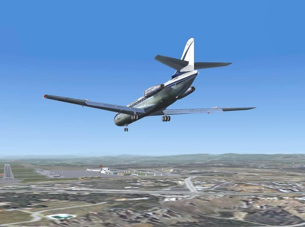 [FS9] - Sud Aviation Caravelle III de Lyon para o Porto Caravelle_AF15