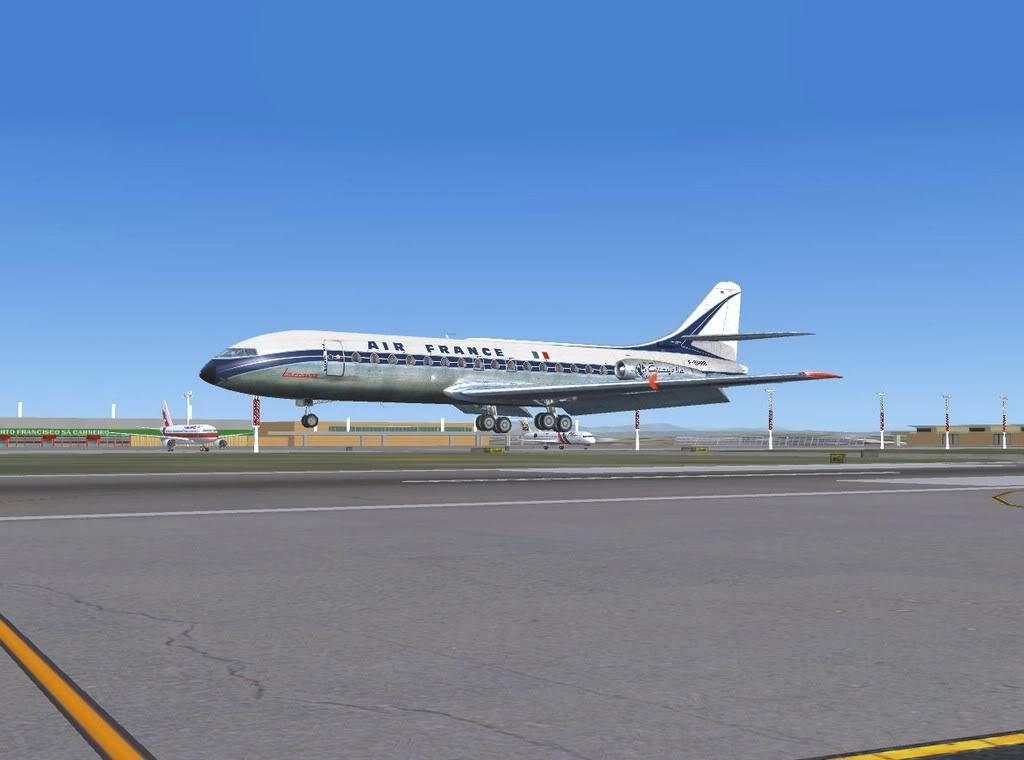 [FS9] - Sud Aviation Caravelle III de Lyon para o Porto Caravelle_AF16