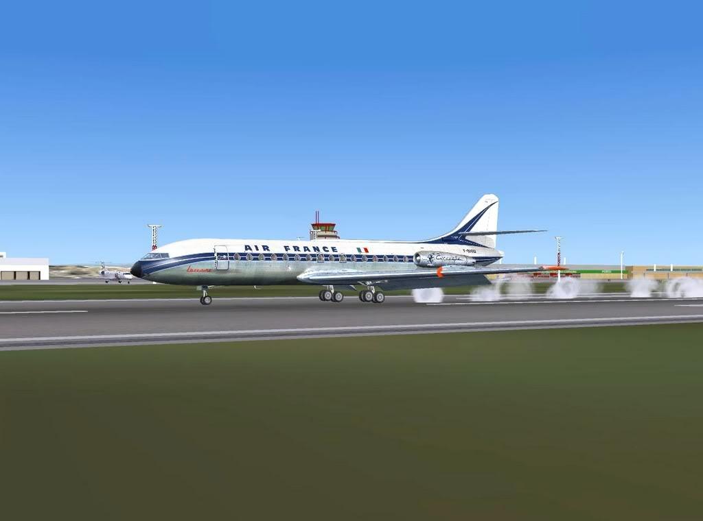 [FS9] - Sud Aviation Caravelle III de Lyon para o Porto Caravelle_AF17