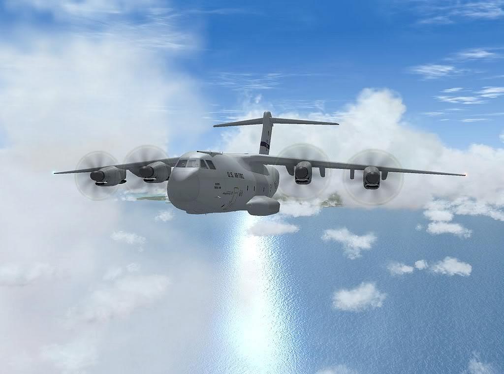 [FS9] - A400M USAF- Voo das Lajes para Lisboa A40005