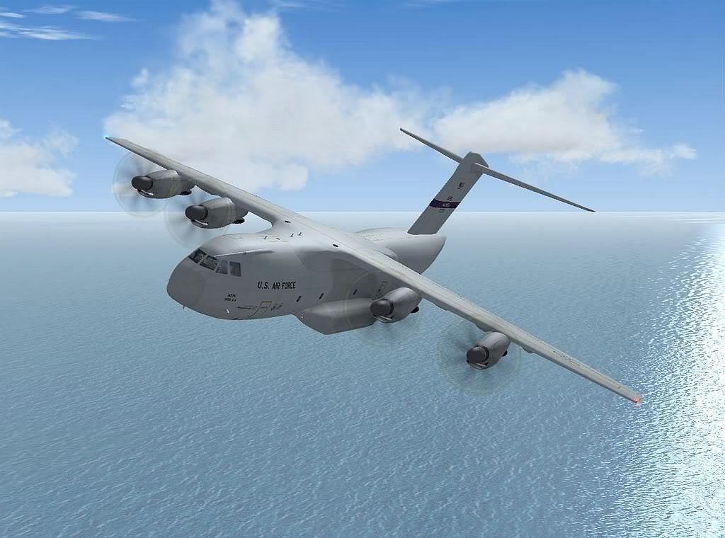 [FS9] - A400M USAF- Voo das Lajes para Lisboa A40008