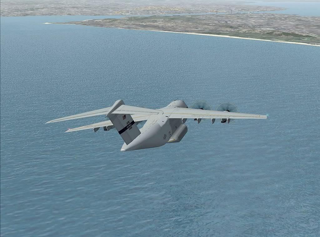 [FS9] - A400M USAF- Voo das Lajes para Lisboa A40009