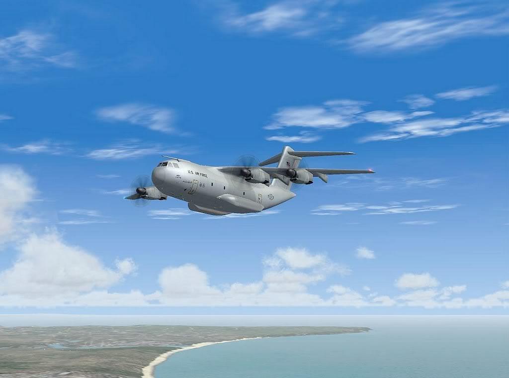 [FS9] - A400M USAF- Voo das Lajes para Lisboa A40010