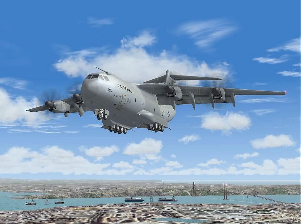 [FS9] - A400M USAF- Voo das Lajes para Lisboa A40012