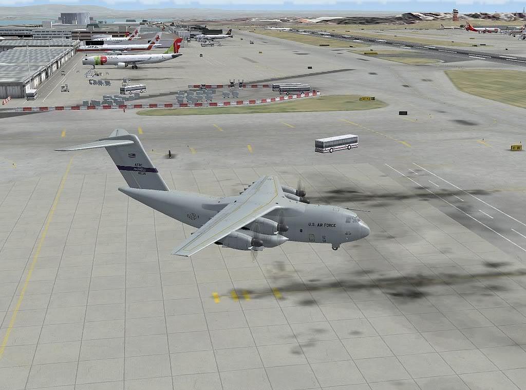 [FS9] - A400M USAF- Voo das Lajes para Lisboa A40015