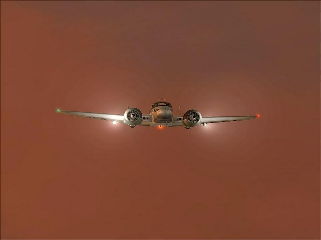 [FS9] - Beechcraft D18 da SATA voando ao fim da tarde nos Açores Beech_D18SATA03