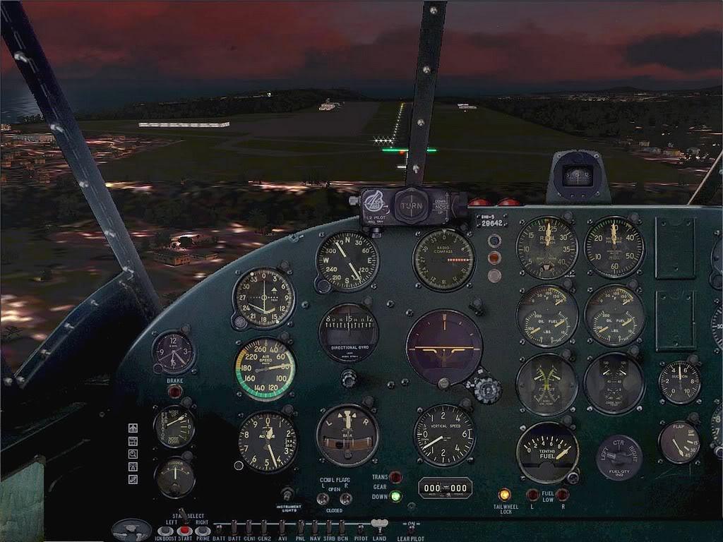 [FS9] - Beechcraft D18 da SATA voando ao fim da tarde nos Açores Beech_D18SATA07