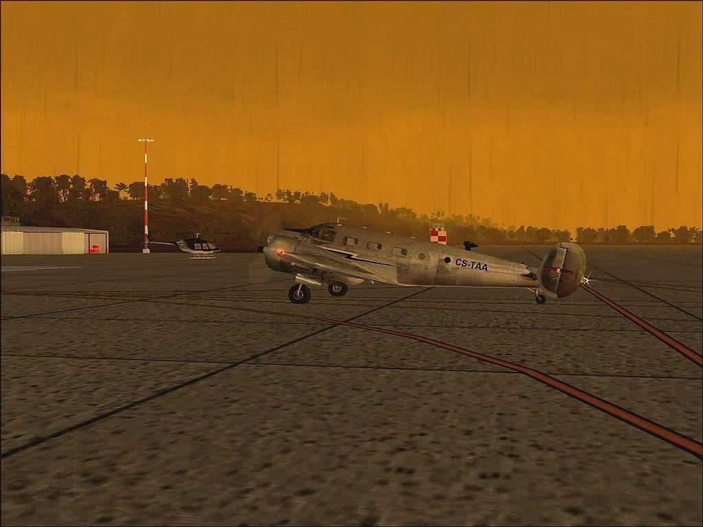 [FS9] - Beechcraft D18 da SATA voando ao fim da tarde nos Açores Beech_D18SATA10