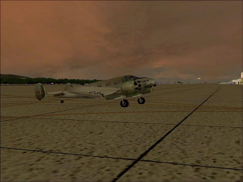 [FS9] - Beechcraft D18 da SATA voando ao fim da tarde nos Açores Beech_D18SATA12