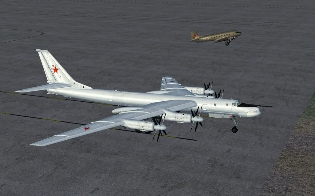 [FS9] LISUNOV LI 2 voando de Astrakhan para Atyrau TU-9501