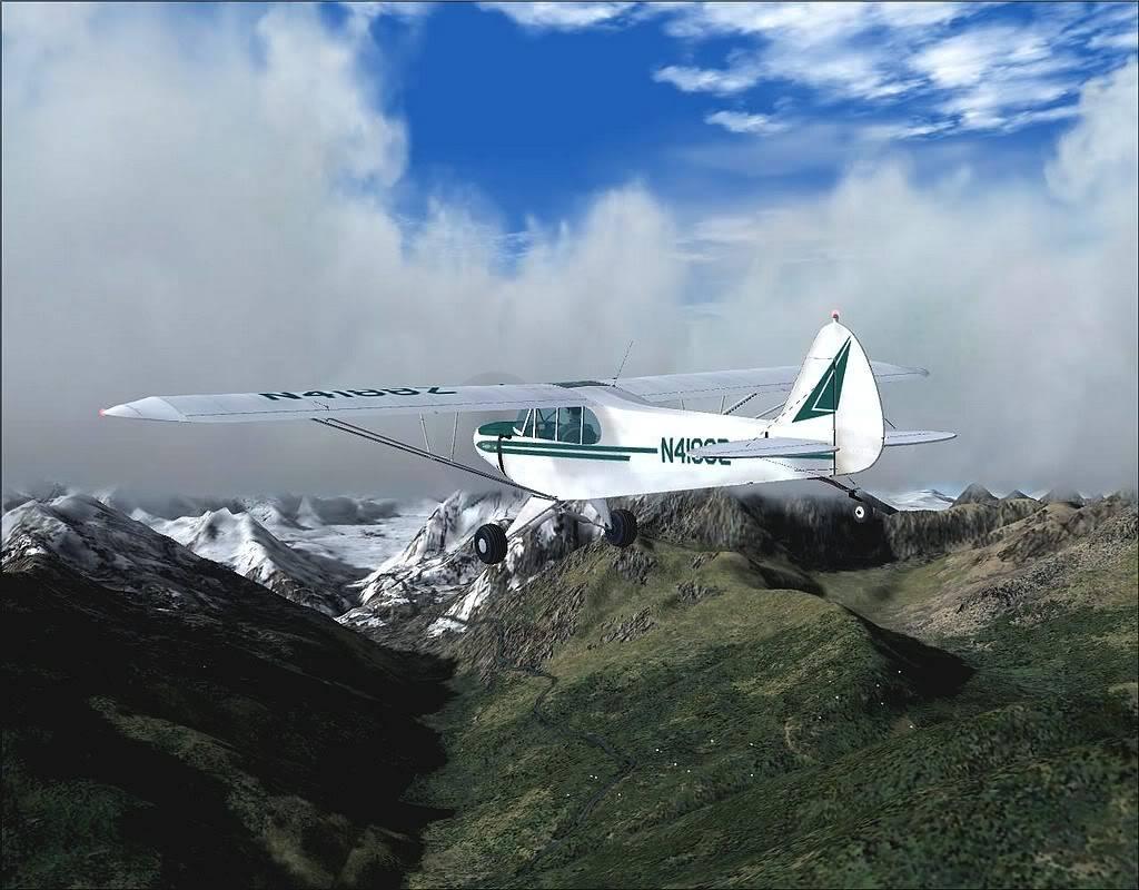 [FS9] - Voando no Alaska com a Piper 18 SuperCub PA15_SuperCub12