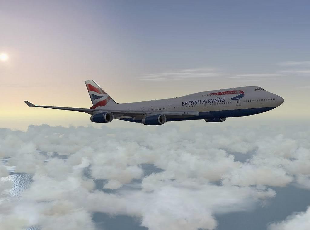 [FS9] - Imagens de voos no fim de semana B747-BA01