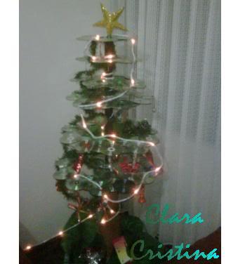 Arbolito de Navidad de reciclados ARBOLDECLARACRISTINAI