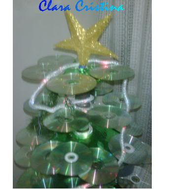 Arbolito de Navidad de reciclados ARBOLNAVIDEOCDIICLARACRISTINA