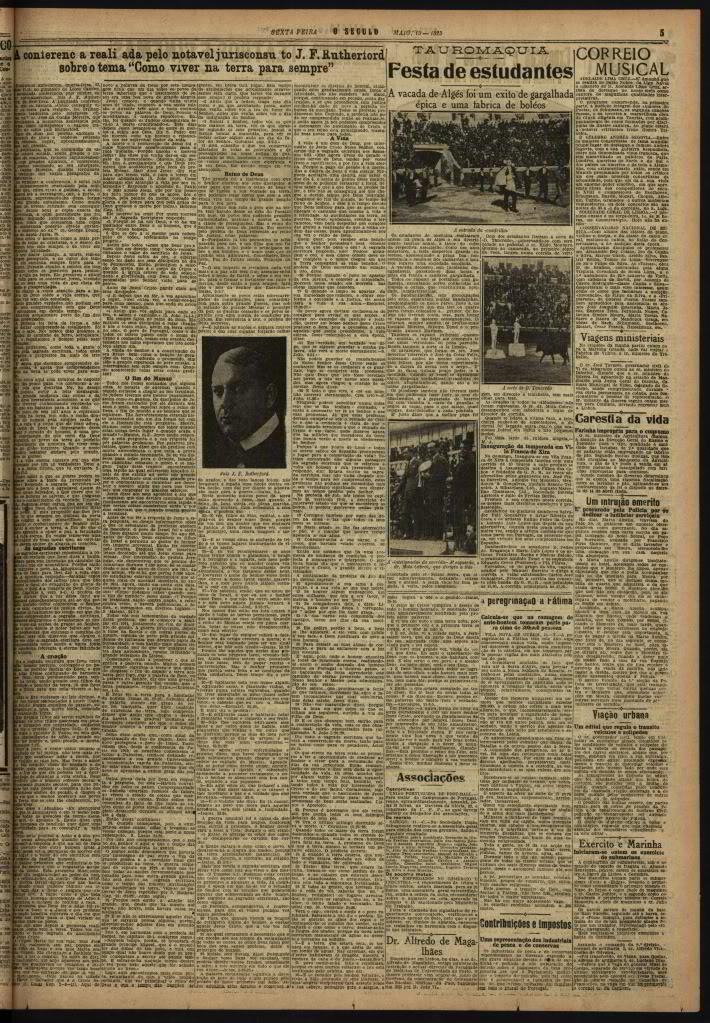 A Conferência de J. F. Rutherford - Lisboa - 13 de Maio de 1925 OSculo-15-05-1925-pg5