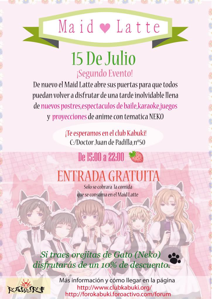 ♠Información 2º Evento Maid ♥ Latte ♠ Cartel