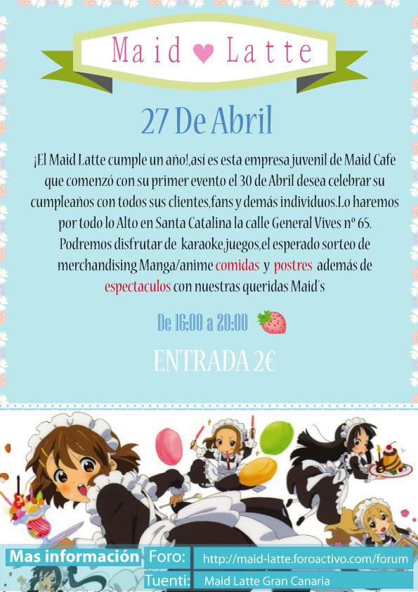 ♠Información 3º Evento Maid ♥ Latte♠ CartelAcabadoWEb