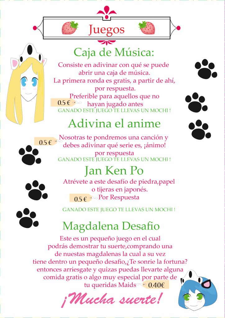♠Información 2º Evento Maid ♥ Latte ♠ Juegos-2
