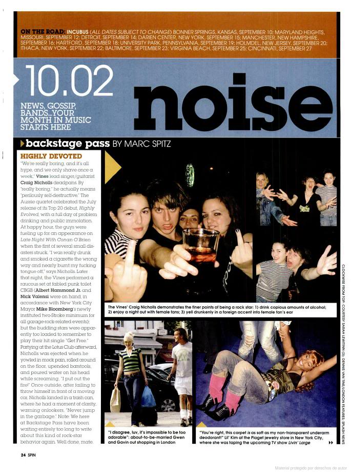 Vines magazine and newspaper articles (from the old forum) - Page 3 Oct2002