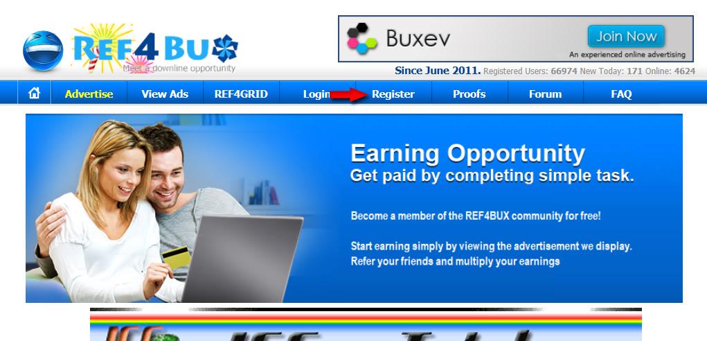 شركة ref4bux ذات الدفع الفورى عالم جديد من الربحية  إثبات دفع شحصى والحد الادنى 5 سنت 01