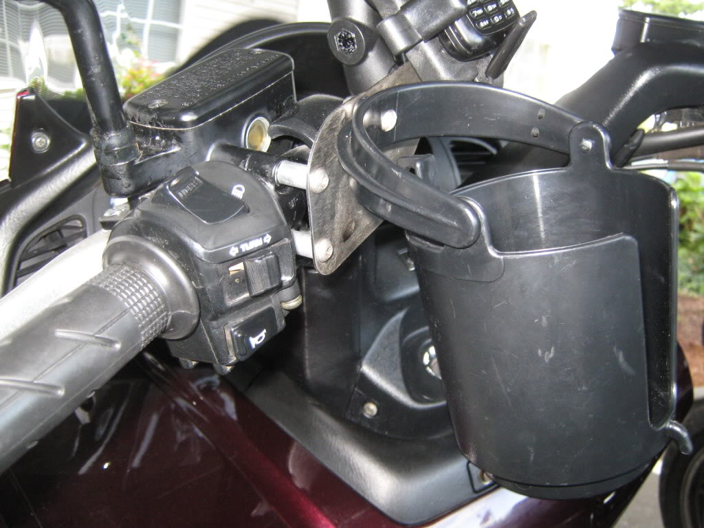 Mirror Extension Ram Mount Cupholder2