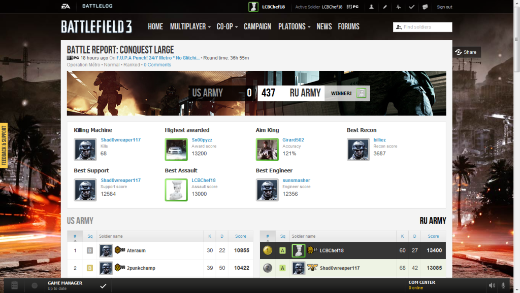 The Official Battlefield 3 Platoon! FUCKYES