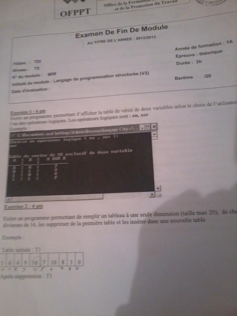 Correction EFM Région Casa: Langage de programmation structurer 2013-04-10124355