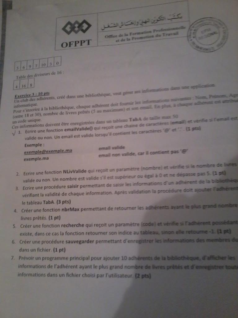 Correction EFM Région Casa: Langage de programmation structurer 2013-04-10124413