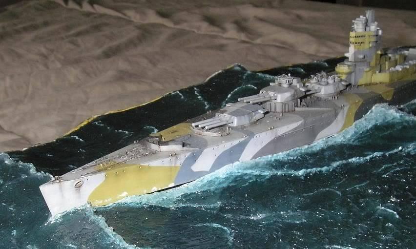 HMS Nelson, 1/700, Tamiya dans l'Ocean Atlantique 44