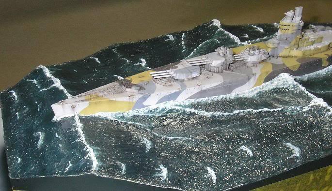 HMS Nelson, 1/700, Tamiya dans l'Ocean Atlantique 47