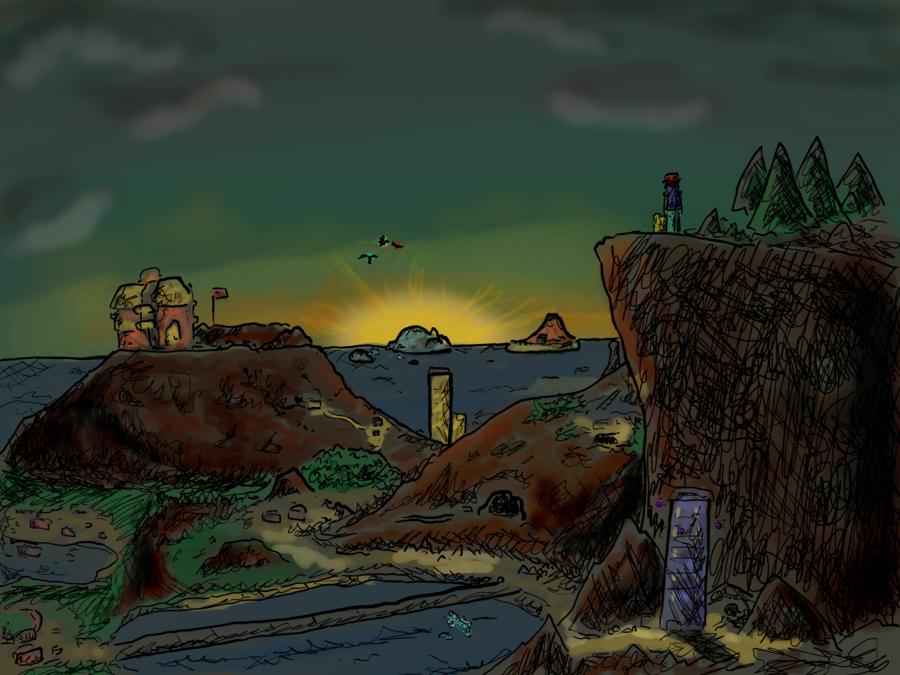 Những hình vẽ ngộ nghĩnh về pokemon bằng paint của thành viên . I_Will_Travel_Across_the_Land_by_Jacktoon