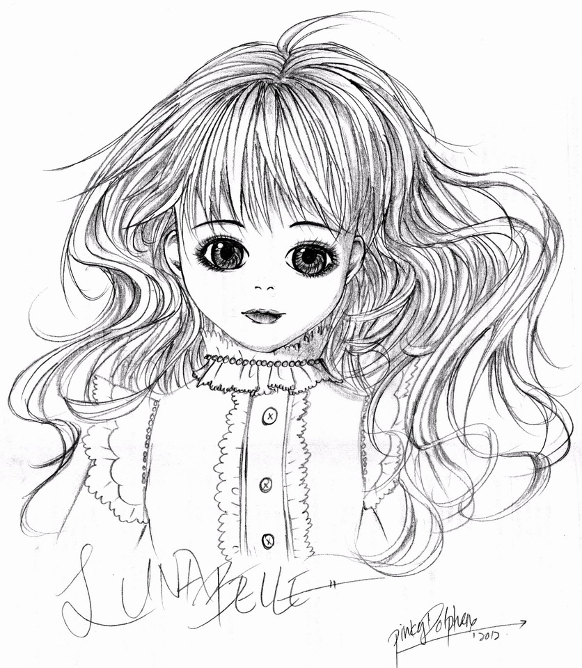 Draw the doll above you! Lunabelle-1