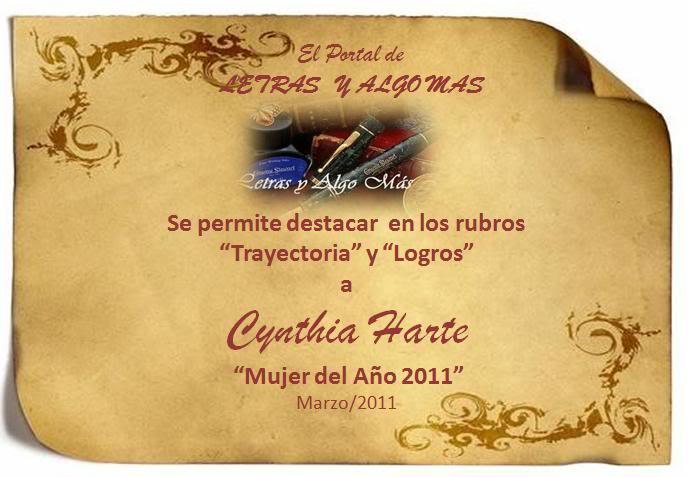MUJERES DEL AÑO 2011 Cynthia