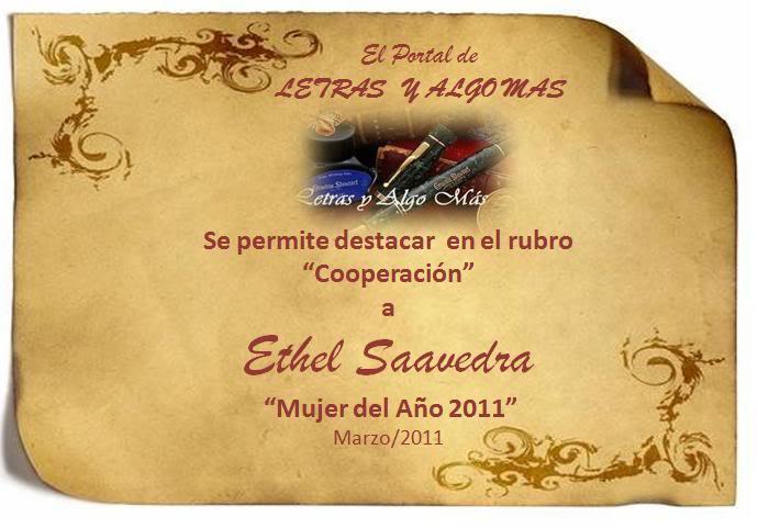 MUJERES DEL AÑO 2011 Ethel