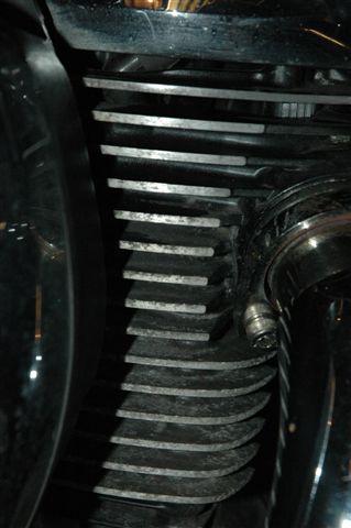 Cleaning engine fins. DSC_4070