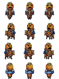 Characters de Chevaliers Citrouilles AngryPumpkinCavalry