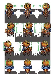 Characters de Chevaliers Citrouilles HappyPumpkinCavalry