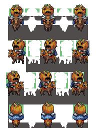 Characters de Chevaliers Citrouilles MadPumpkinCavalry