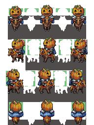 Characters de Chevaliers Citrouilles PumpkinCavalry