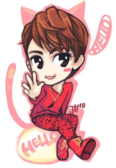 Chibi fanart của b. trẻ Key ~Kim Ki Bum Ed82a4ec95bcec98b9nakis-1