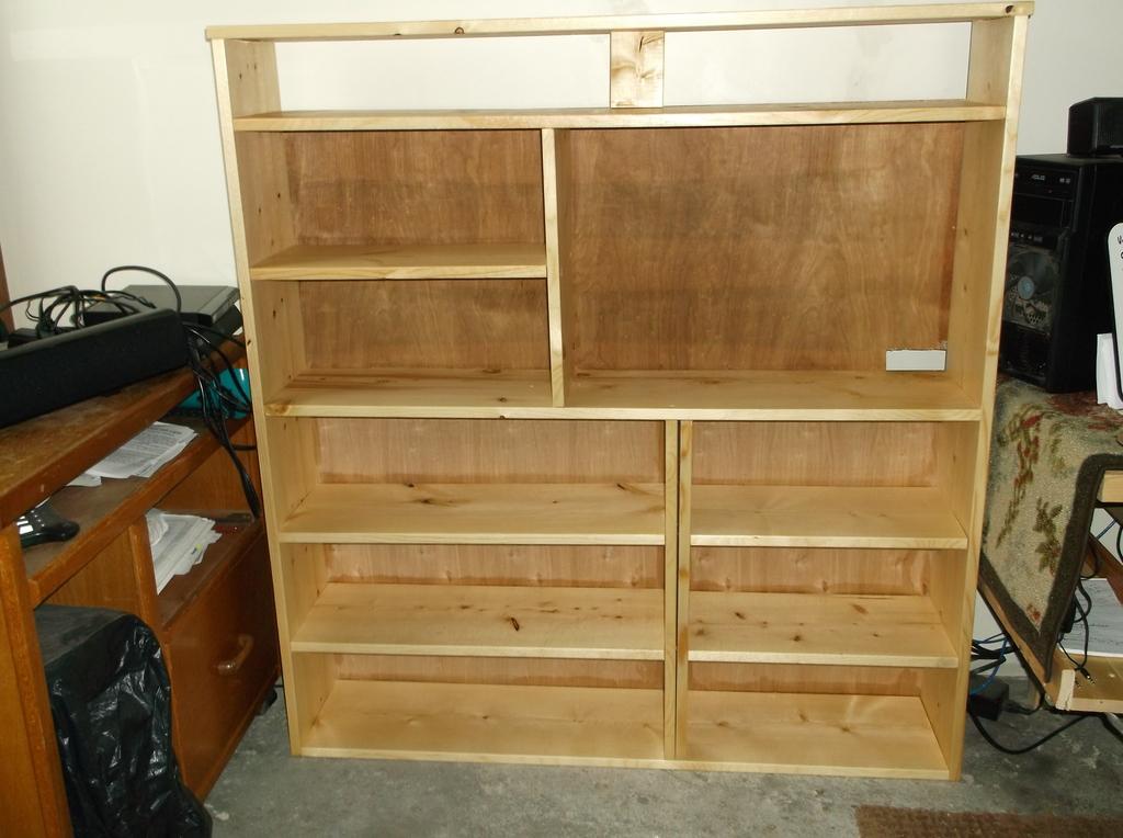 Shelf for TV and Aquarium stand that I built DSCF8127